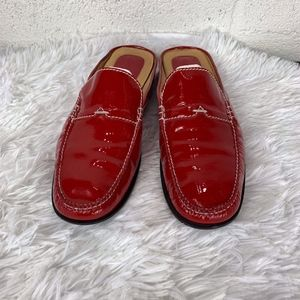 Cole Haan Sz 7.5 B Style D12526 Red Mule Shoes